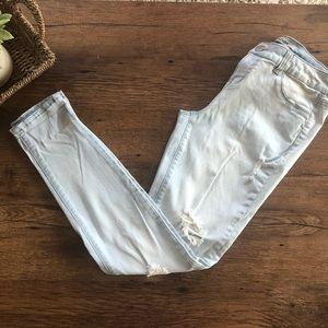 Refuge light wash distressed jeans
